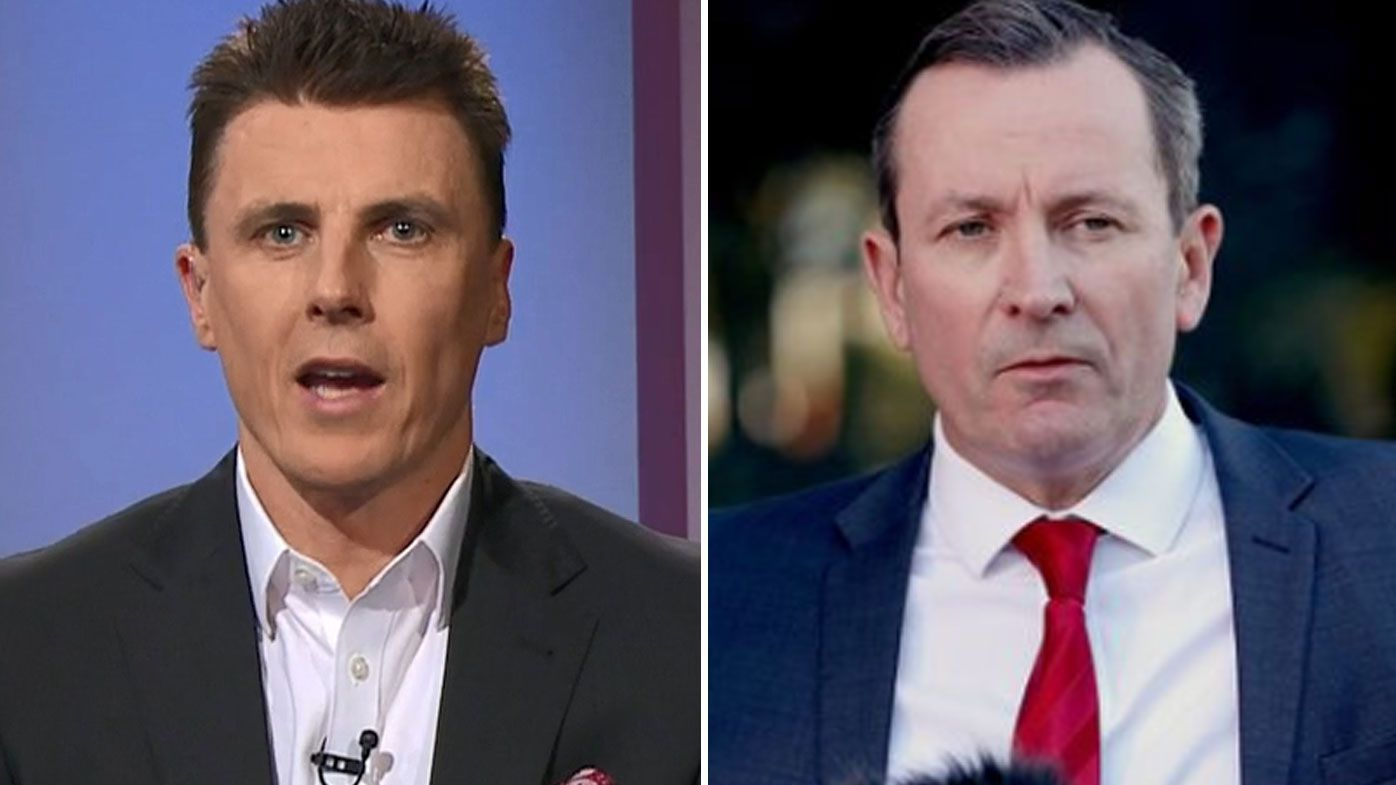 AFL great Matthew Lloyd rips 'petty' WA Premier Mark McGowan over Victorian comments