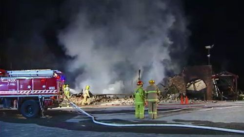 More than 50 firefighters were required to bring the blaze under control. (9NEWS)