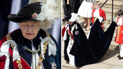 Queen Elizabeth attends the Order of the Garter ceremony, June 2018