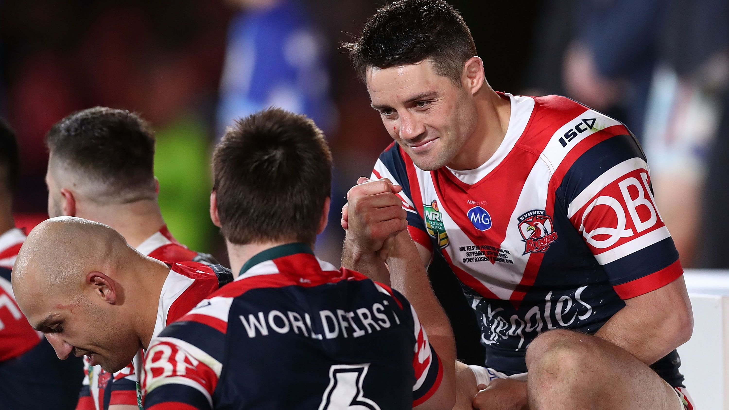 Roosters halfback Cooper Cronk.