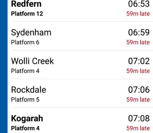 Trains across multiple lines are running at least an hour late as overcrowding on platforms irritates commuters.