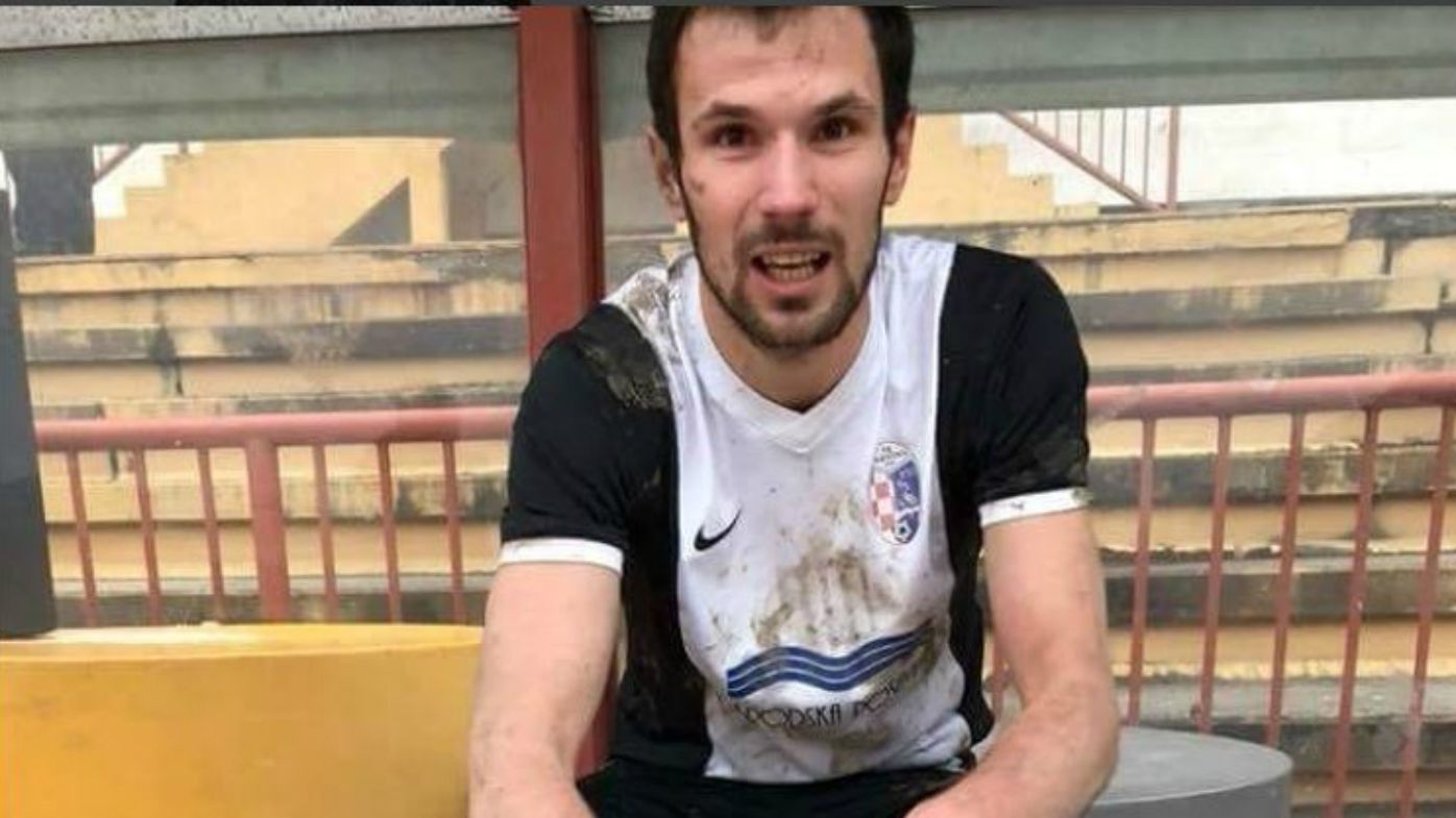 Croatian footballer dies on the pitch after being struck by ball