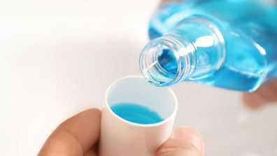 Blue mouthwash