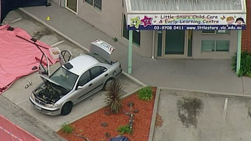 The police station is next to a childcare centre. (9NEWS)