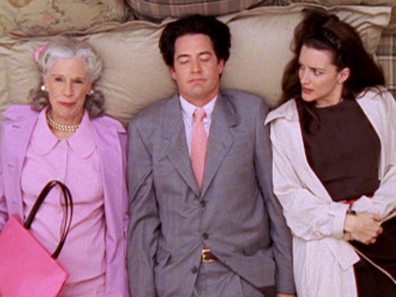Scene from Sex and the City with Bunny and Trey Macdougal and Charlotte York