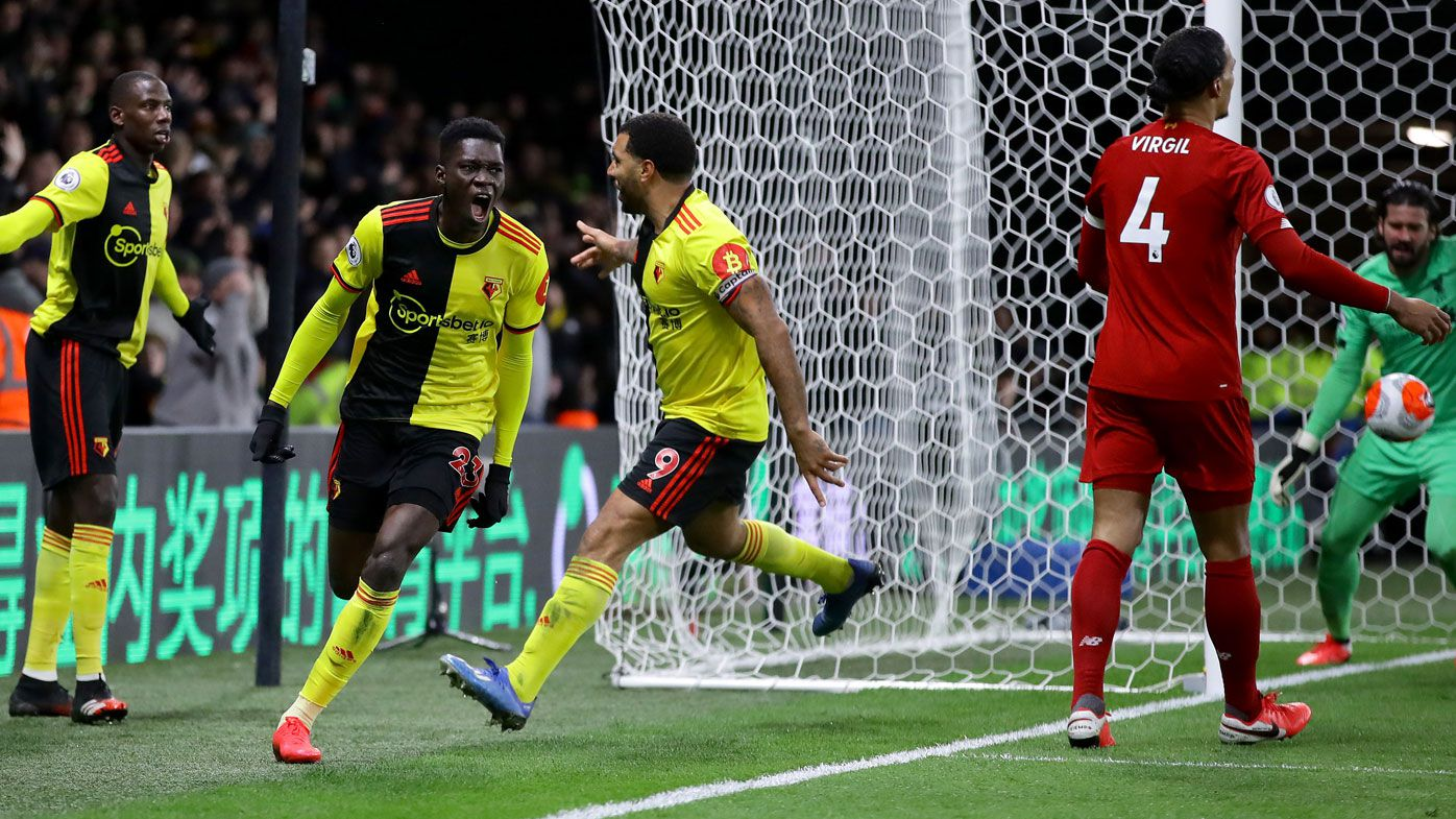 Watford end Liverpool's unbeaten EPL run at 44 matches with shock 3-0 thumping