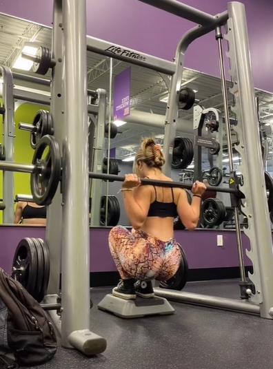 Fitness influencer TikTok video gym fail meets stranger who rescues her