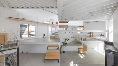 This eccentric Japanese home has 13 platforms, is a giant optical illusion