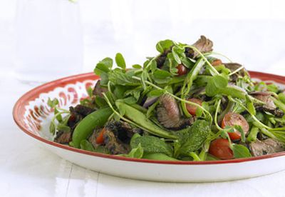 Mint and chilli beef salad