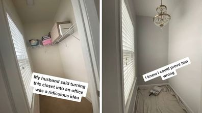 Woman transforms unused closet on TikTok