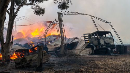 Thousands of pigs have burned alive, with fears for more livestock in South Australia