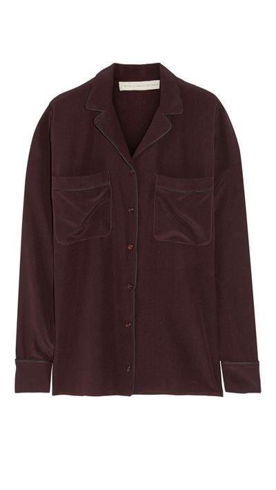 "<p><a href=""http://www.theoutnet.com/en-AU/product/Stella-McCartney/Goodwin-silk-shirt/539595"" target=""_blank"">Goodwin Silk Shirt, approx $394, Stella McCartney</a></p>"