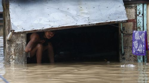 There was flooding in several provinces and parts of the capital Manila