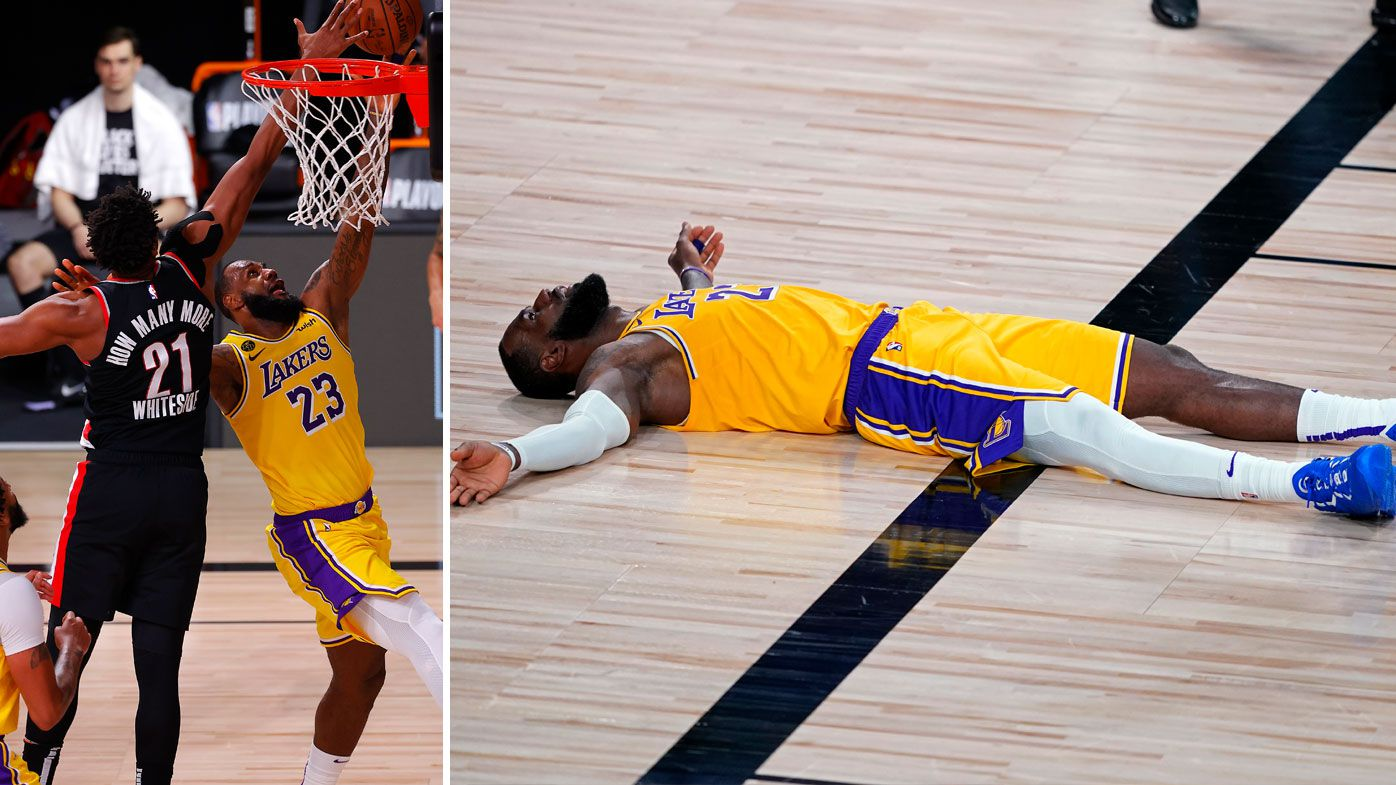 LeBron's Lakers fall short against Lillard's Trailblazers in Game 1. (Getty)