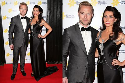 Ronan Keating and Dannii Minogue co-hosted the Emeralds and Ivy Ball at Doltone House, Sydney on Friday, September 27. The annual event raised funds for the Cancer Council's Ronan Keating Fellowship, aiding cancer prevention and treatment. Ronan's band Boyzone were among the performers at the star-studded night.<br/><br/>Images: Getty
