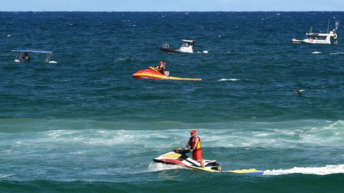 Two sharks seen off NSW north coast following fatal attack