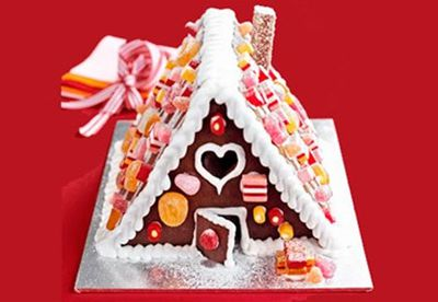 Or our easiest gingerbread house ever