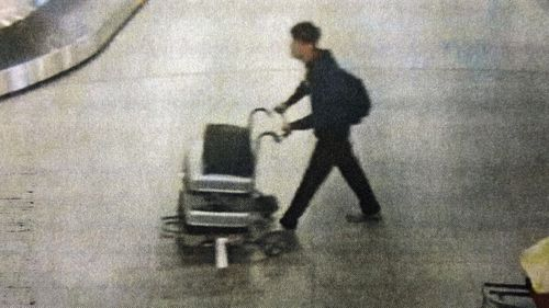 Footage reportedly shows Marcelo Santoro walking through the airport, allegedly fleeing to Brazil.