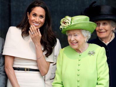 Queen Elizabeth and Meghan Markle in Cambridge.