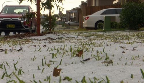 Hail blanketed parts of Sydney after a cold blast of weather.