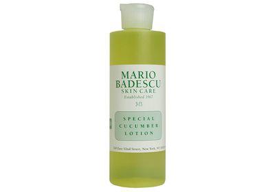 """<a href=""""http://mecca.com.au/mario-badescu/special-cucumber-lotion/I-004650.html#q=cucumber&start=1"""" target=""""_blank"""">Special Cucumber Lotion, $23, Mario Badescu</a>"""