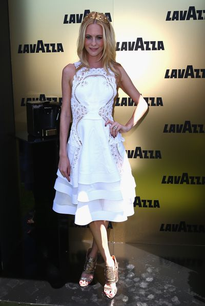 Poppy Delivingne (Cara is yet to make an appearance) dazzled for Lavazza in J'Aton on Derby Day in 2013.