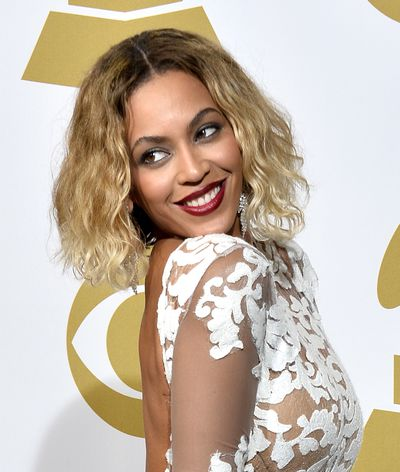 Beyoncé at the 56th Grammy Awards  in Los Angeles, 2014