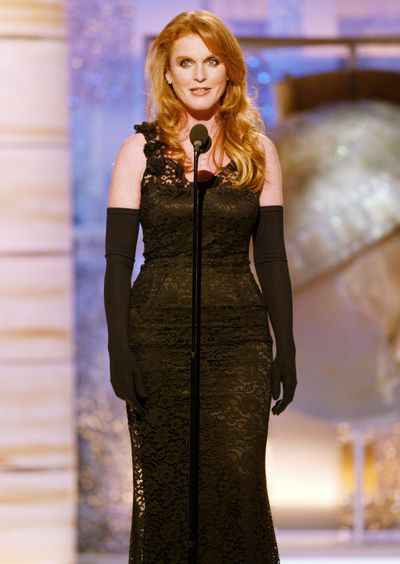 The Dutchess of York Sarah Ferguson on stage at the 61st Annual Golden Globe Awards on January 25, 2004 at the Beverly Hilton Hotel, in Beverly Hills.