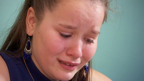 Teenager Chloe Davenport experiences daily excruciating pain due to Complex Regional Pain Syndrome. Picture: A Current Affair.