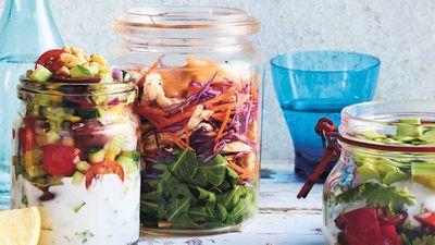 "Recipe: <a href=""https://kitchen.nine.com.au/2017/11/24/12/27/luke-hines-roast-chicken-salad-jar"" target=""_top"">Luke Hines' rippin' roast chicken salad jar</a>"