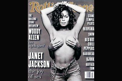 Janet Jackson's hand-bra, <i>Rolling Stone</i>, September 1993.