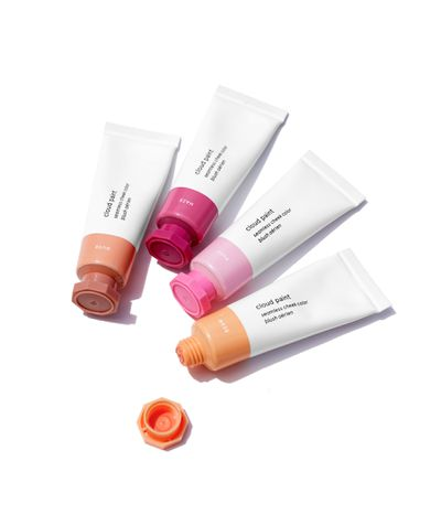 """<p><a href=""""https://www.glossier.com/products/cloud-paint"""" target=""""_blank"""">Glossier'sCloud Paintblush in Beam,</a> $22.23 (not yet available in Australia but Glossier have announced they will 'soon' be shipping internationally.)</p> <p > Sir John used the shade Beam """"on the apples of her cheeks.""""</p>"""