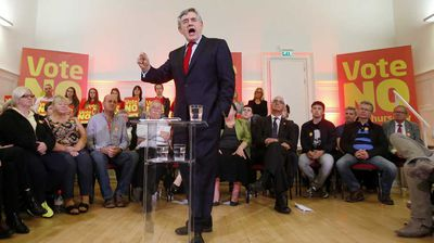 Gordon Brown may be as Scottish as a deep-fried Mars Bar, but the former prime minister is firmly in the 'No' camp. He's not the only Labour politician sweating on Scotland staying in the Union. The Labour Party gets a massive share of its House of Commons seats from Scotland, and would have major problems ever winning back government without them.
