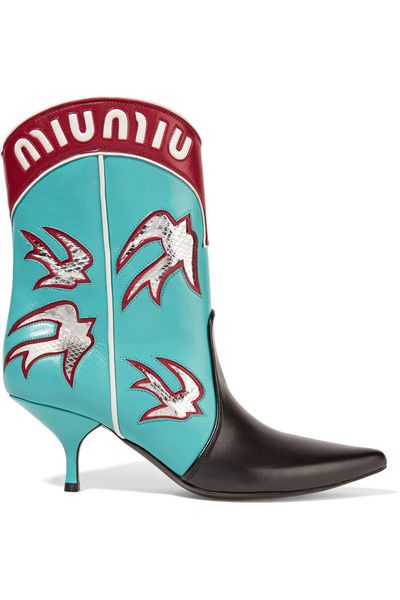 "<a href=""https://www.net-a-porter.com/au/en/product/657978/Miu-Miu/Ayers-appliqued-leather-boots"" target=""_blank"">Boots, $2700, Miu Miu at net-a-porter.com</a>"