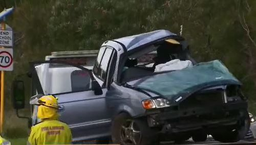 The passenger in the front seat of the car was killed. (9 News)