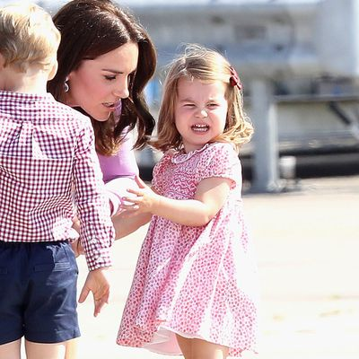 Princess Charlotte has a tantrum, July 2017