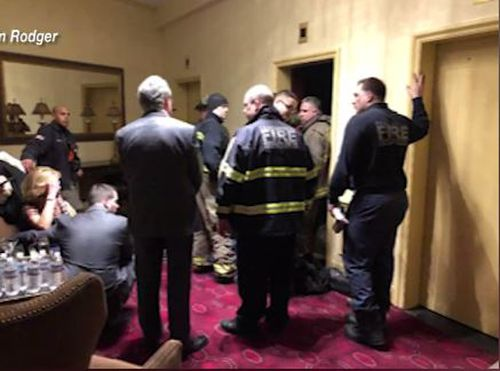 Fire crews were called in to help rescue Mrs Rodgers from the elevator. (ABC6)