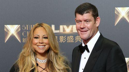 James Packer and Mariah Carey. (AAP)