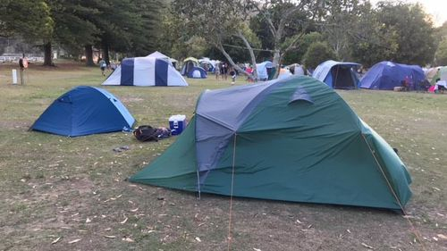 The campsite, located near Pittwater, is one of Sydney's most popular beach camping spots. (Supplied)