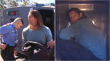 Fallen Eagles star Ben Cousins is back behind bars, accused of breaching his bail conditions.
