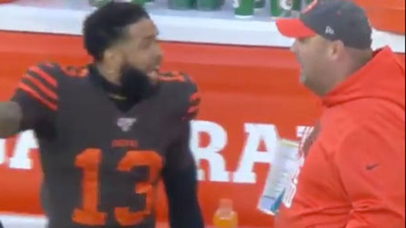 Odell Beckham Jr blows up deluxe at coach Freddie Kitchens during loss to Baltimore Ravens