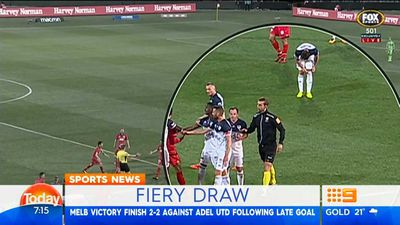 A-League: Melbourne Victory salvage draw with Reds but Berisha faces scrutiny for ref shove