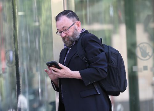 Donohue pictured outside the Melbourne County Court in November last year.