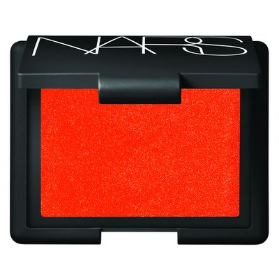 "If you're craving crimson blush for a creepy doll vibe, go for cult classic <a href=""http://mecca.com.au/nars/?gclid=CMCqrOqZ6M8CFYGVvAodgQsGHA"" target=""_blank"">Nars Blush in Exhibit A, $44.</a>"