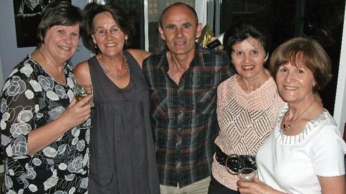 Lynda's 60th birthday - (Left to right) Sue, Lynda, Doug, Val, Jenny. Their brother John is not in the photo.