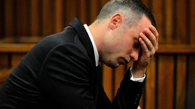 Oscar Pistorius in court. (AAP)