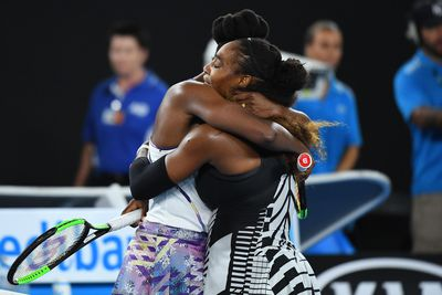 Venus and Serena Williams. The world championship tennis players love and support one another always.