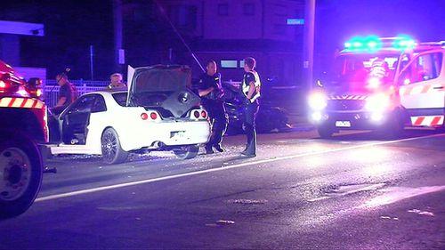The crash happened around 9pm last night. (9NEWS)