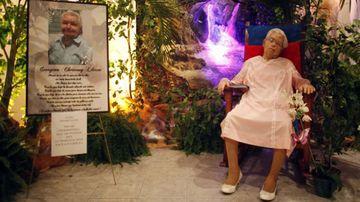 Georgina Chervony Lloren was quite present at her own funeral (AP).