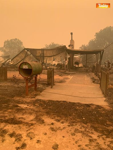 The Bos family farm was devastated by the Corryong bushfire.